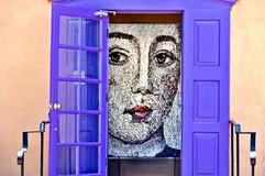 Lady Through Purple Doors