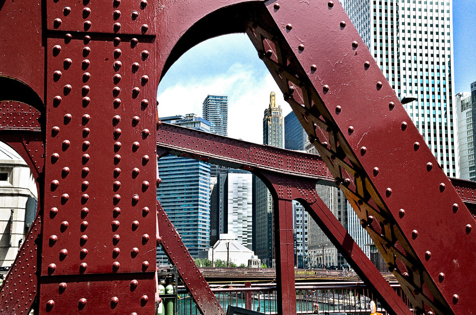 Chicago River Bridge & Downtown