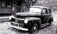 Black Antique Car