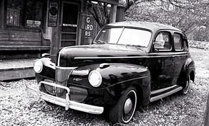 Black Antique Car