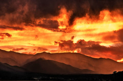 Fire Of The Gods Sunset