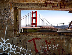 Golden Gate Bridge/ Graffiti