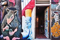 Smoking Rat Mural