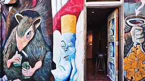 Smoking Rat Mural