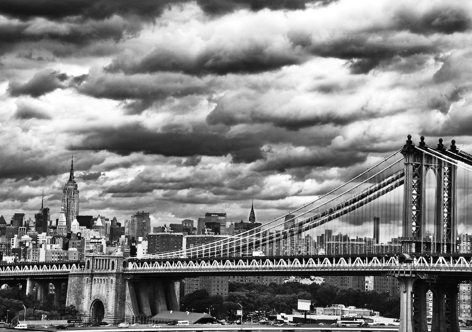 Manhattan Bridge/BW