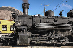 Steam Engine and Mountains