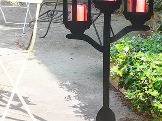 Déco habillage de jardin en métal RÉVERBÈRE