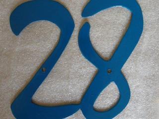 Plaque personnalisée numéro de maison SCRIPT
