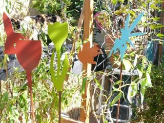 Déco en métal, les oiseaux au jardin COLIBRI