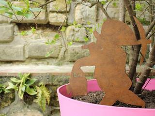 Déco habillage de jardin en métal NAIN DE JARDIN