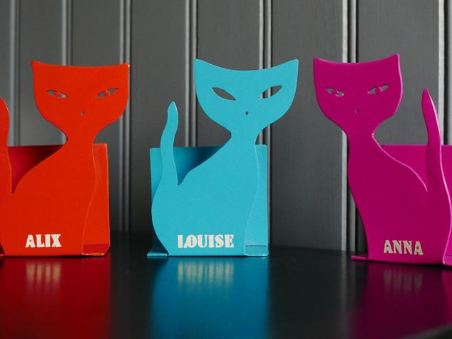 Des chats en métal pour une déco variée PRÉNOM