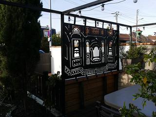 Déco habillage de jardin en métal HAVELI