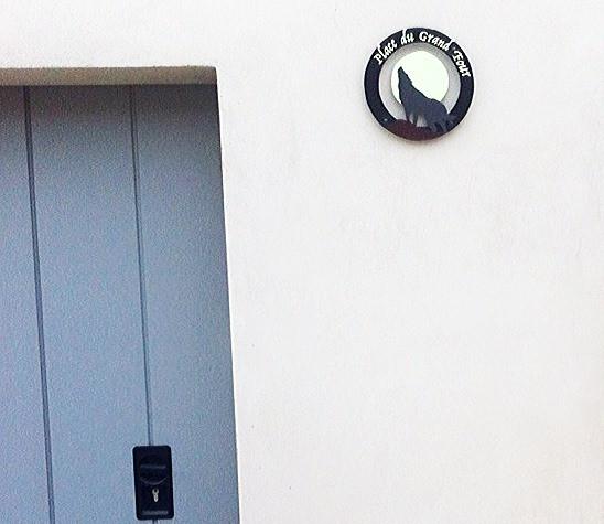 Plaque personnalisée numéro de maison LOUP