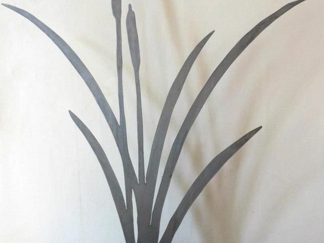 Décoration du jardin en métal, la flore ROSEAU