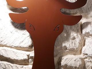 Décoration murale personnalisée en métal TÊTE DE GNOU