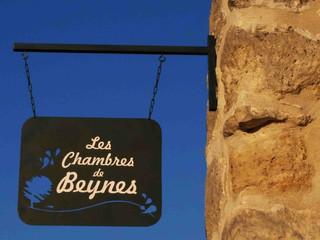 Enseigne à l'ancienne en métal  CHAMBRES D'HÔTES BEYNES