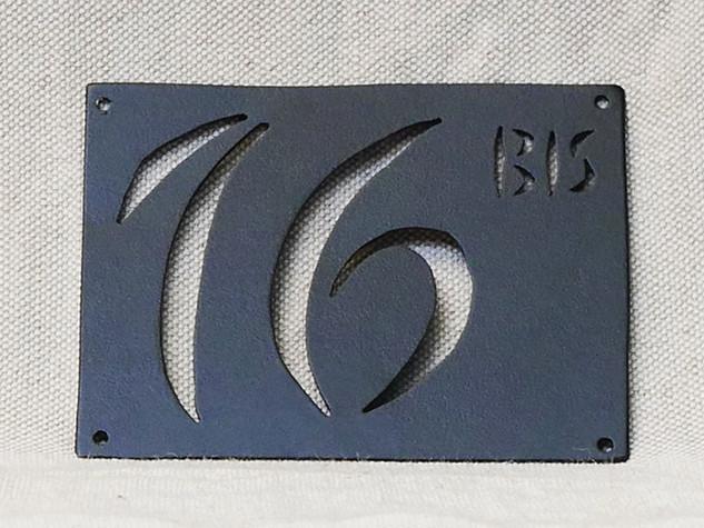 Plaque personnalisée numéro de maison DESIGN