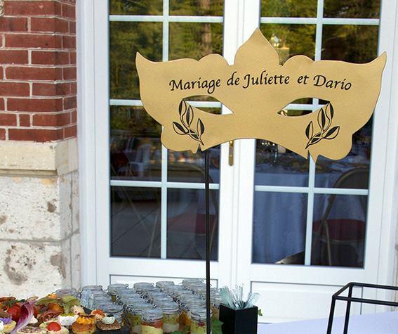 Décoration personnalisée d'évènement BUFFET TABLE MARIAGE