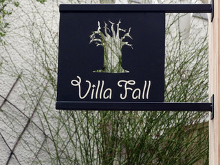 Enseigne métal prénom ou nom de famille VILLA FALL