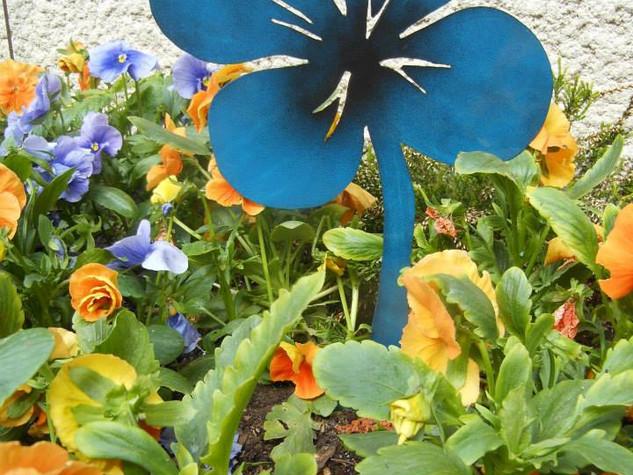 Décoration du jardin en métal, la flore TRÈFLE DÉGRADÉ