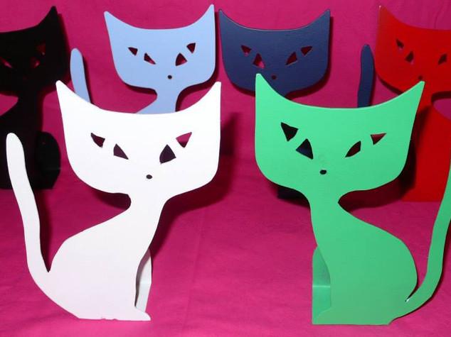 Des chats en métal pour une déco variée BLOC-NOTES