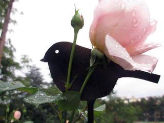 Déco en métal, les oiseaux au jardin MÉSANGE