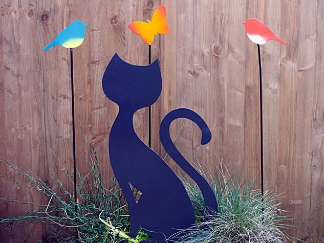 Des chats en métal pour une déco variée JARDIN