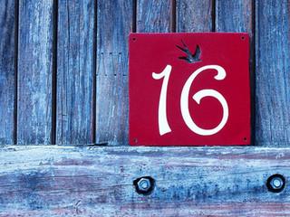 Plaque personnalisée numéro de maison HIRONDELLE
