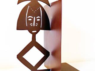 Déco métal serre-livres STATUETTE AFRICAINE