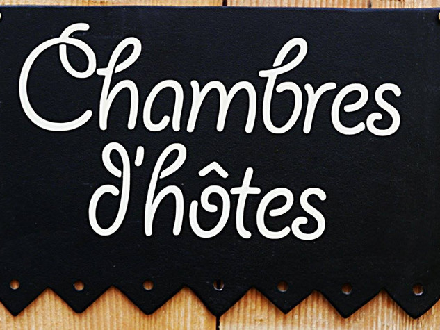 Signalétique extérieure en métal CHAMBRES D'HÔTES