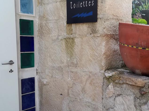 Plaque déco en métal pour les toilettes ÉCLAIR