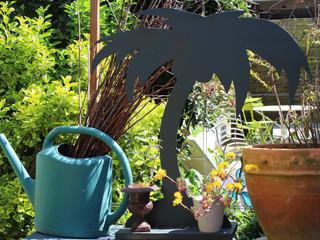 Décoration du jardin en métal, la flore PALMIER GRIS