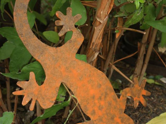 Décoration en métal animaux sauvages LÉZARD