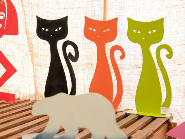 Des chats en métal pour une déco variée BOB COLORÉ