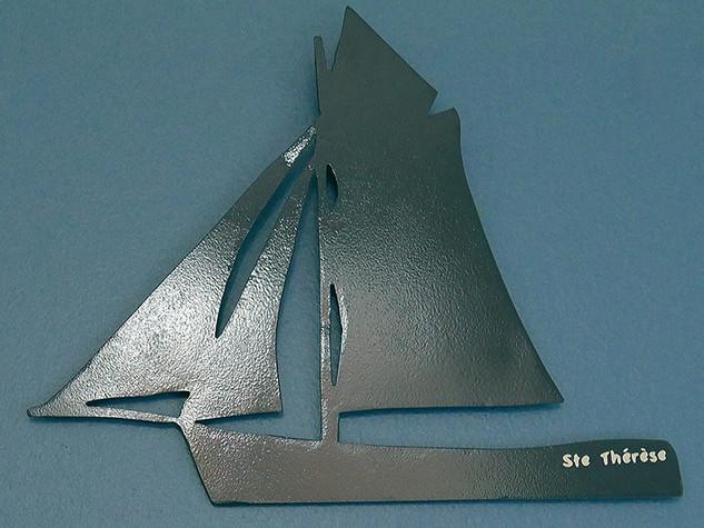 Déco en métal personnalisée hobby VOILIER