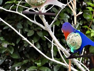 Déco en métal, les oiseaux au jardin SUPPORT GRAINES
