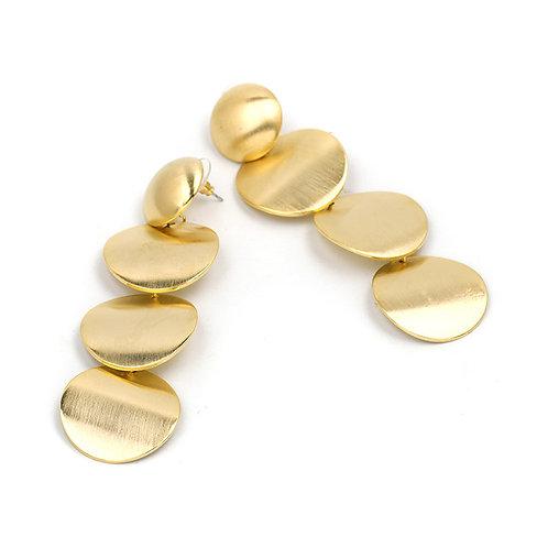 Darla Round Drop Earrings