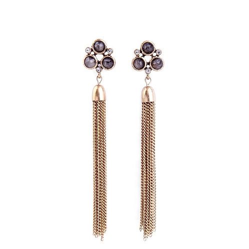 Vintage Golden Tassel Earrings