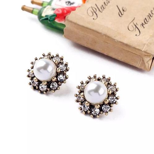 Pearled Stud Earrings