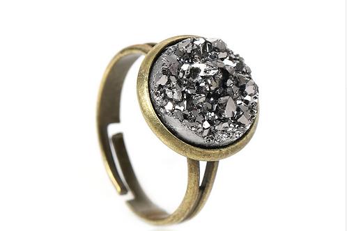 Teagan Silver Grey Ring