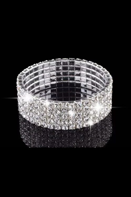 4Row Crystal Bracelet