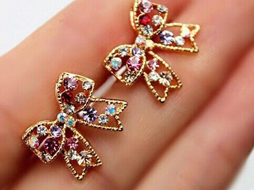 Jeweled Bow Studs