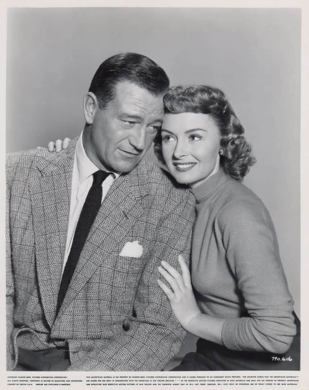 John Wayne and Donna Reed in Trouble Along the Way