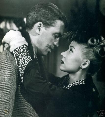 Jimmy Stewart and Gloria Graham