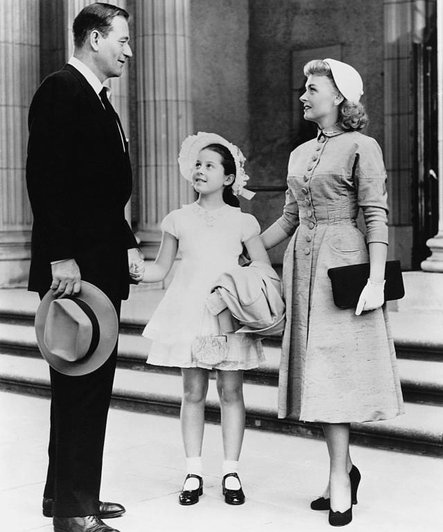 John Wayne, Sherry Jackson and Donna Reed