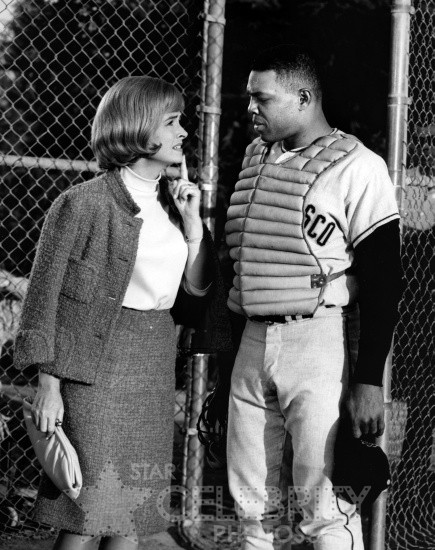 Donna Reed and Willie Mays