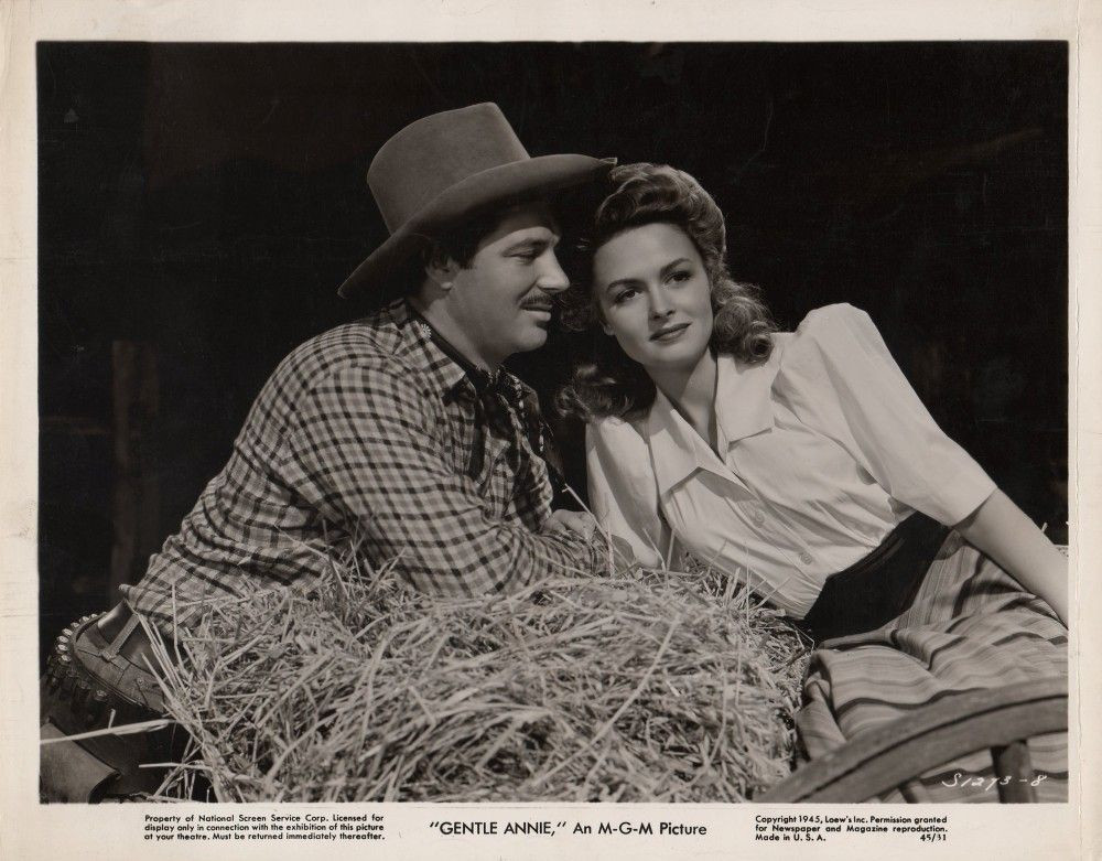 """James Craig and Donna Reed in """"Gentle Annie"""""""
