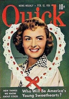 Donna Reed on the cover of Quick magazine
