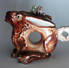 Abstract Rabbit Teapot