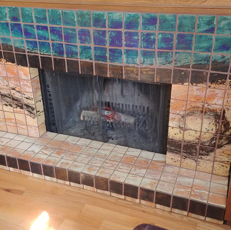 Stormy Skies Fireplace Mural